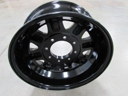 "17.5"" Aluminum Wheels(Set of 5), 8 Bolt , Black Powder Coating, New In Box!"