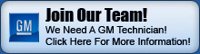 Now Hiring GM Technician