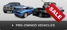 Pre-Owned Vehicles Specials